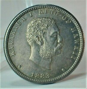 1883 Hawaii Silver 1/4 Dollar in Choice Uncirculated Condition KM#5  (284)