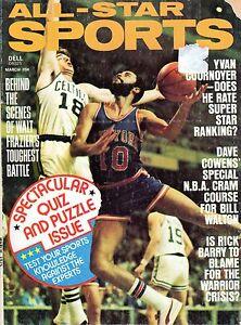 1975 (Mar.) All-Star Sports,Basketball magazine, Walt Frazier, New York Knicks
