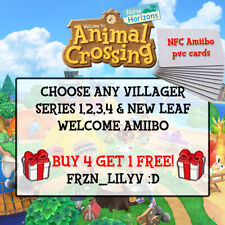 [NEW] Animal Crossing Amiibo NFC CARDS - POPULAR & ANY VILLAGER TO CHOOSE!