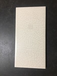 "Decorative Ceramic Bone Crackle Finish 3"" X 6""Tile(s). Many Available"