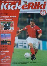 Programm 2000/01 SC Fortuna Köln - RW Essen