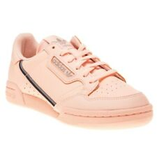 New Girls adidas Pink Continental 80 Leather Trainers Court Lace Up