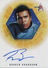 Star Trek 35th Anniversary Holofex Autograph Card A25 Booker Bradshaw