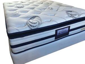 Sleepy King Single latex Pillow top bed Ensemble (mattress and base)