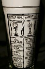 Vintage Bartender Mixing Glass With Mixology Drink Recipes and Liquid Measure