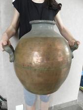 amphore copper HUGE Vase Jar Bowl Pharmacy Hardware shop Laboratiore Alcohol old