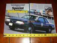 1989 MUSTANG SSP FLORIDA HIGHWAY PATROL ORIGINAL 2000 ARTICLE
