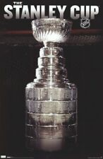 NHL ~ STANLEY CUP IN FRONT OF GOAL NET ~ 22x34 POSTER ~ National Hockey League