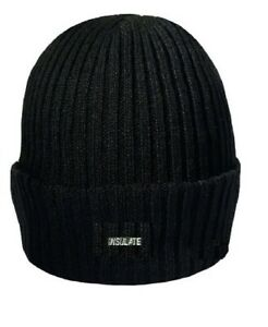 Mens Knitted  Insulate Warm Winter Wooly Outdoor Chunky Hat Beanie Ski