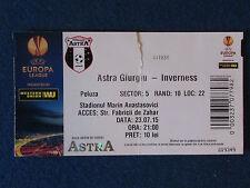 Astra Giurgiu v Inverness C.T. - 23/7/15 - UEFA Europa League Ticket