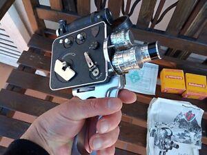 Caméra Pierre Levêque Berthiot LD8 vintage avec divers accessoires