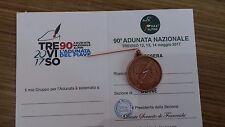 MEDAGLIA ADUNATA  NAZIONALE ALPINI  TREVISO 2017 CON TESSERA