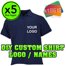 5x DIY Custom Shirt Logos - Personalised - Printed Company Name - NO SHIRT INC -