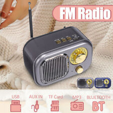 Portable Mini Plug-in FM Radio Stereo Speaker Rechargeable MP3 Player USB TF