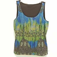 Sequined Sleeveless Party Top size Medium Peter Nygard design