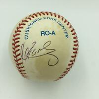 Manny Ramirez Rookie Signed Official American League Baseball With JSA COA