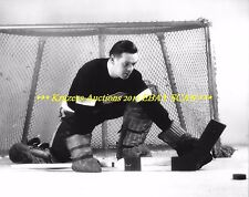"""CECIL """"Tiny"""" THOMPSON Defends NET for CAMERA 8x10 RED WINGS/BRUINS HOF Goalie~@@"""