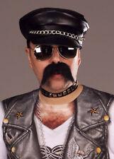 80's Fancy Dress Black Punk Rock Hat Biker Cap