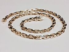 """10k Solid ROSE Gold Handmade Anchor Link Mens chain/Necklace 18"""" 50 grams 5.5MM"""