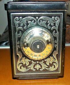Vintage Avon Vintage Black Gold Gilt Tin Metal Bank England