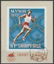 Albanië gestempeld 1971 block 42 - Olympische Spelen Munchen (SG300)