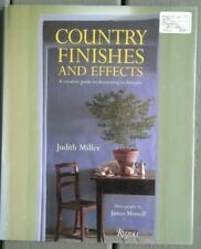 Country finishes and effects decorating decor book Judith Miller ISBN 0847820173