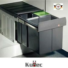 WESCO Einbau Abfallsammler 32 L (16 + 2 x 8 L) Mülleimer Vollauszug 40er Schrank