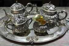 Servizio da the e caffe in argento, stile Barocco