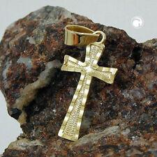 Echtschmuck-Halsketten & -Anhänger aus Gelbgold Kreuz