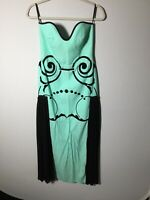 alice mccall Womens Turquoise Strapless Midi Dress Size 10 Great Condition