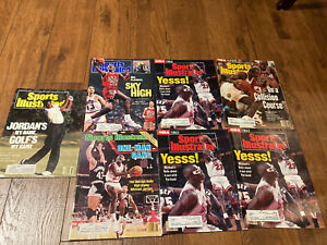 Sports Illustrated Michael Jordan Bulls Lot Of 7
