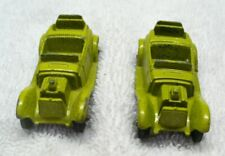 Two Vintage TOOTSIETOY Diecast Green Roadster Mini Cars-USA