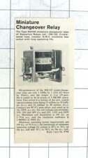 1965 Miniature Changeover Relays Keyswitch Relays Ltd Cricklewood Lane