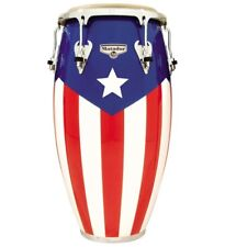 "LP Matador Puerto Rican Flag Conga Drum. Size 11-3/4"" By Latin Percussion."