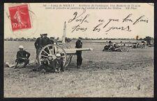 Cpa Guerre Camp de Mailly - Artillerie de campagne batterie de 75 mm