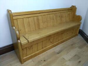 Monks Bench - Settle - Church Pew - 4/5/6 ft - Antique Oak / French Oak Sefton
