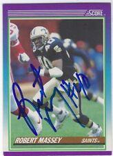 Autographed Robert Massey New Orleans Saints 1990 Score Football Card #149