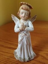 Vintage Lefton China Praying Angel Figurine RARE 6 Inches