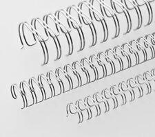 50 Renz Drahtbinderücken DIN A4 14.3 Mm 3 1 Teilung Bindespiralen In Silber