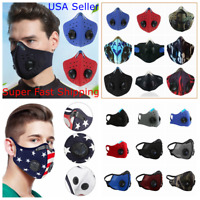 Face Mask Reusable Covering with Dual Valve Washable Breathable Unisex 1 Filter