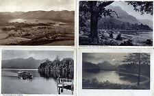 Lot Of 4 Antique Original Postcards - Derwentwater, Cumbria