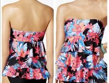 ISLAND ESCAPE NWT Halter Tiered Bandini Tankini Swim Top Size 6 Tummy Thinner!