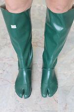 Japanese Knee High Green Ninja Tabi Split Toe Rubber Boots EU41 UK7 Gummistiefel