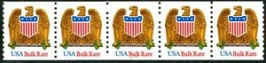 Eagle & Shield USA Bulk Rate Shiny Gum W/A MNH PNC5 Pl 11111 Scott's 2603