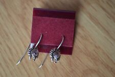 0.22ct Purple Tourmaline Cabochon Earrings in Sterling Silver ~ Crabs