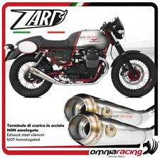 Zard coppia terminali scarico in acciaio non omologato Moto Guzzi V7 II Racer