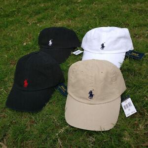 Classic Polo RL Baseball Cap Hat Black Beige White Strap Back Adjustable Hat