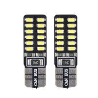 2Pcs/lot T10 24 LED Light bulbs W5W 168 194 Super Bright White LED 24 SMD