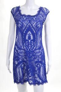 Artelier Nicole Miller Purple Lace Ocean View Dress Size Small $245 10215613