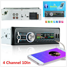4 Channel 1Din Car Stereo Audio AUX FM Input Receiver Radio Bluetooth MP3 Player
